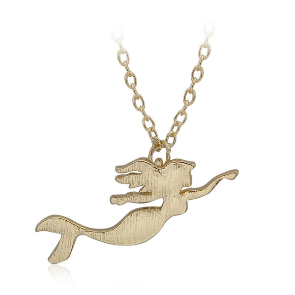 Little Ariel Dainty Charm Necklace - Gold Plated - The Gorillas Den
