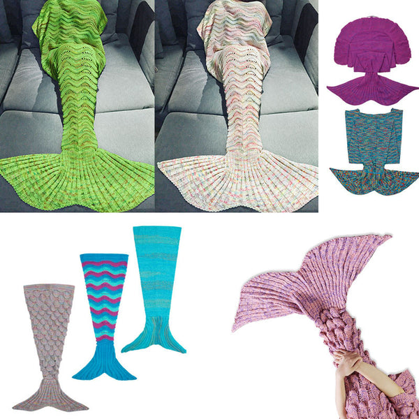 Luxurious Mermaid Sleep Sack- Hand Knitted With Premium Soft Cotton(18 Colors/Patterns) - The Gorillas Den