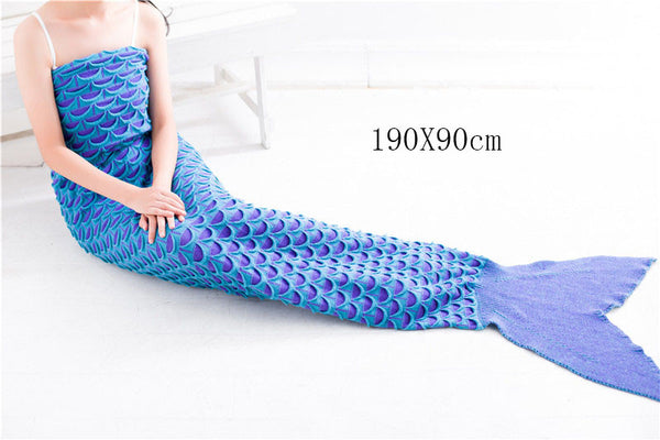 Luxurious Mermaid Sleep Sack- Hand Knitted With Premium Soft Cotton - The Gorillas Den