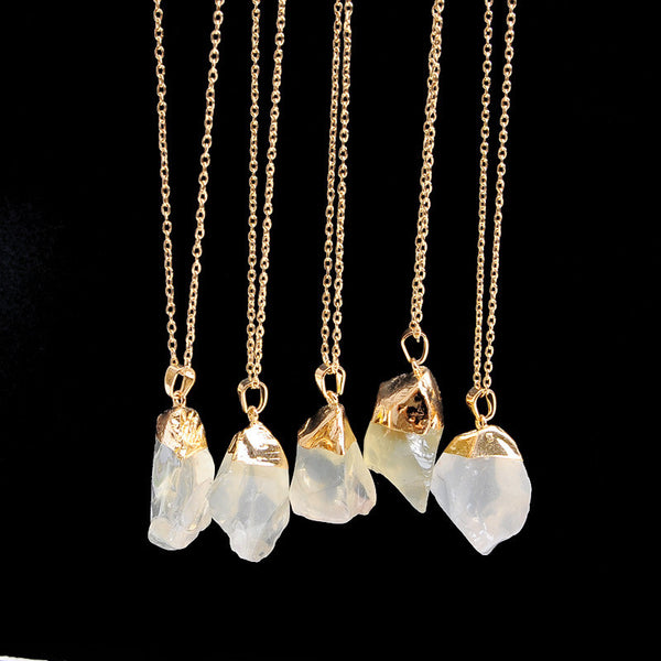 The Colors of the Wind Crystal Necklace - 18k Gold Dipped - The Gorillas Den
