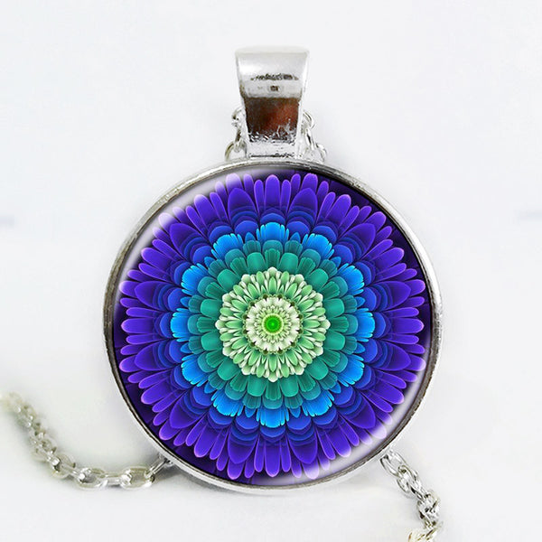 Flower of Life 3D Glass Necklace - The Gorillas Den