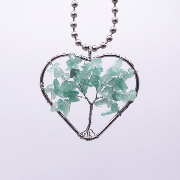 The Tree Of Life Heart Necklace - 5 Styles (Stone color)