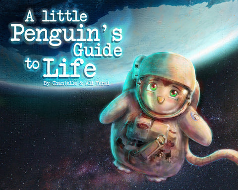A Little Penguin's Guide to Life - Hardcover Book.