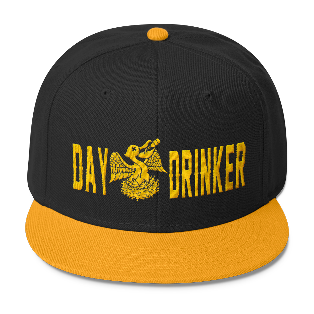 Hat -Snapback, Yellow Embroidery