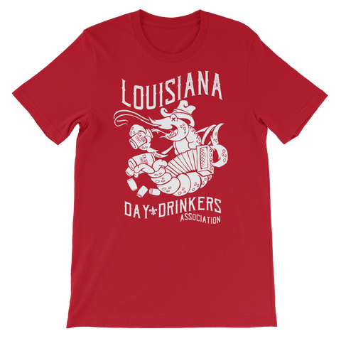 Tee Shirt- Crawfish, White Print