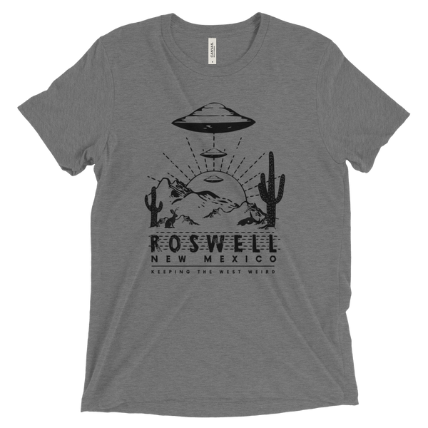 Tee Shirt - Roswell, New Mexico, Black Print