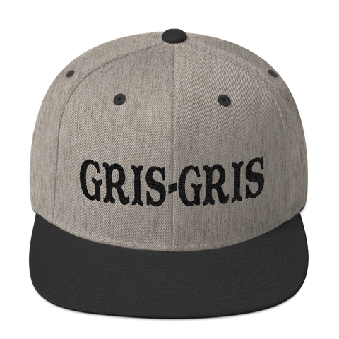 Gris-Gris Snapback Hat, Black Embroidery