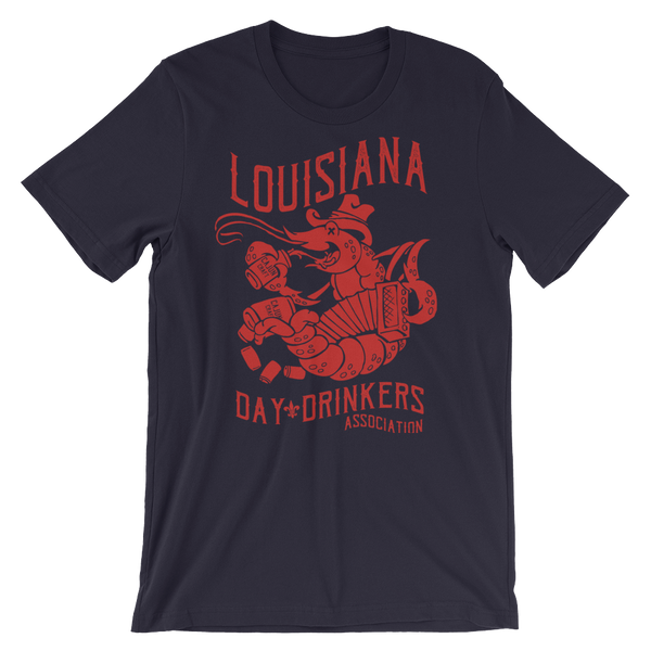 Tee Shirt- Crawfish, Red Print
