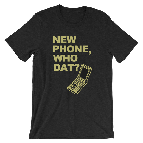 Tee Shirt - New Phone, Gold Print