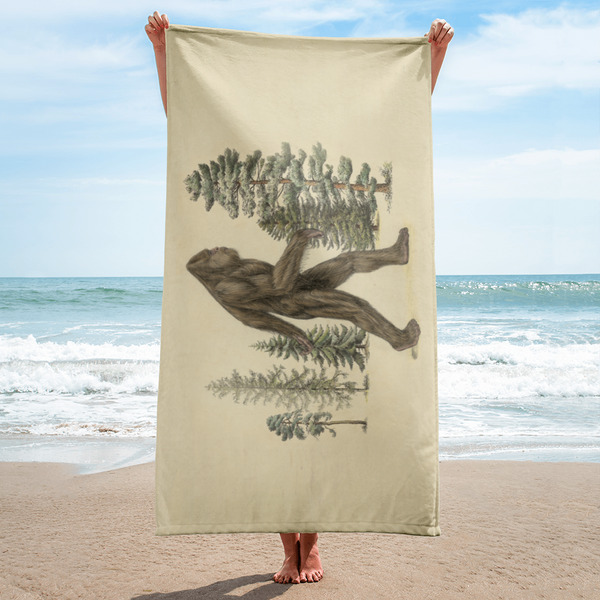 Beach Towel - Sasquatch Print