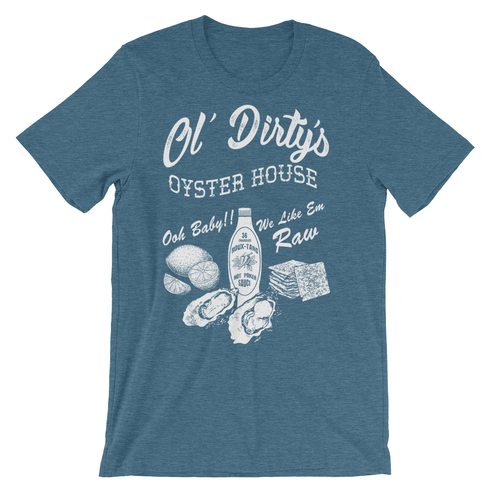 Tee Shirt - Ol' Dirty's Oyster House, White Print