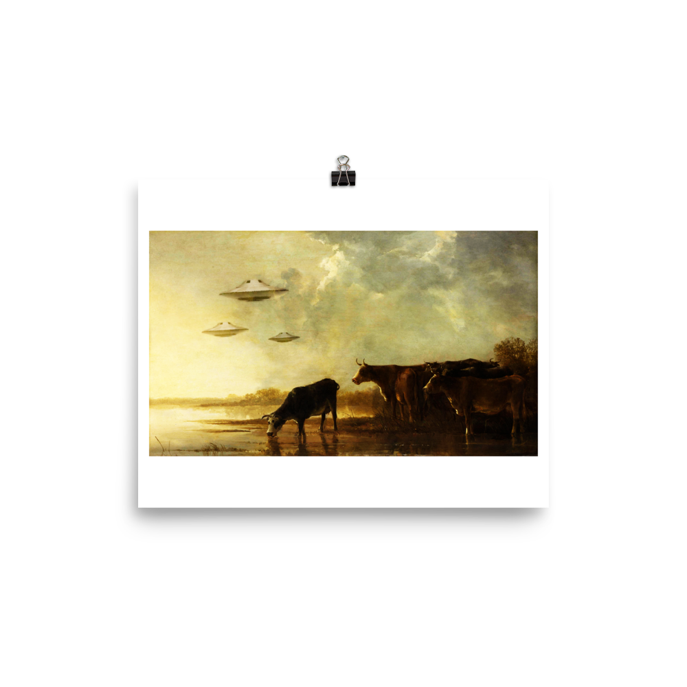 Art Print - Saucers and Cattle