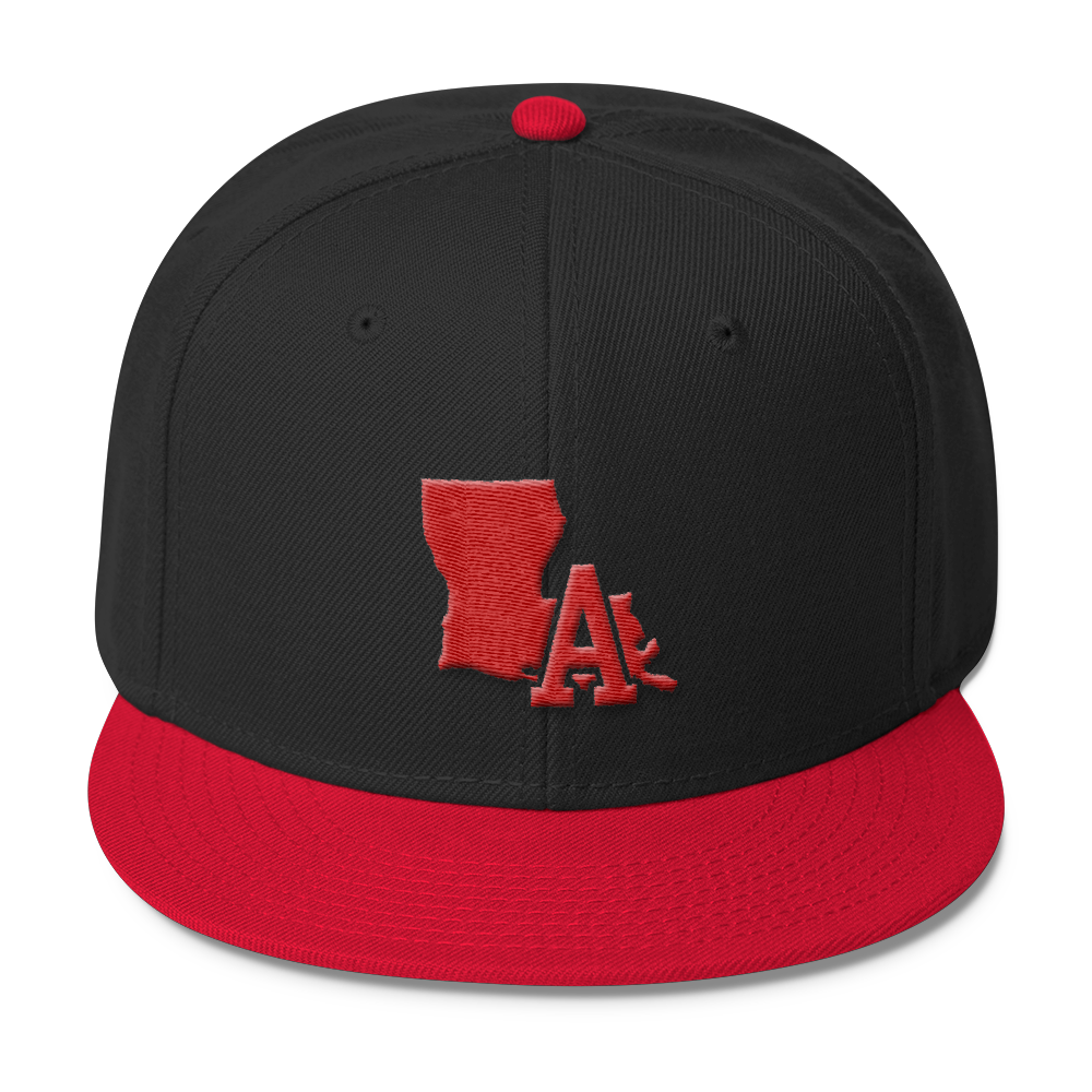 LA Hat - Snapback, Red Embroidery