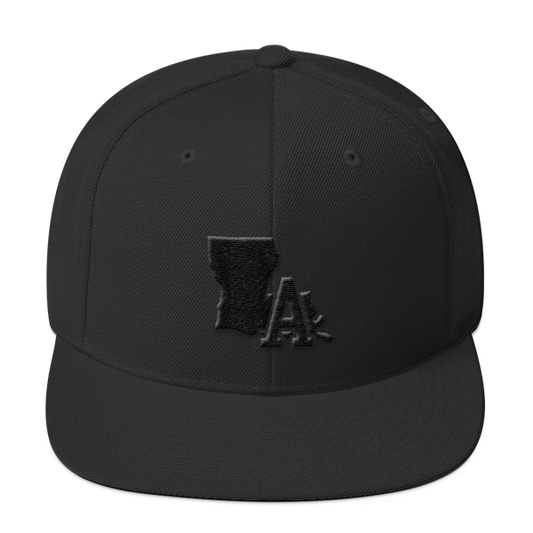 LA Hat - Snapback, Black Embroidery