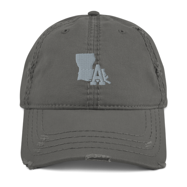 "Distressed Hat ""Grey"" - LA print (Grey)"