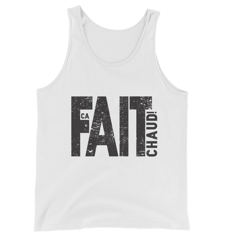 Tank Top -  Ca Fait Chaud!, Black Print
