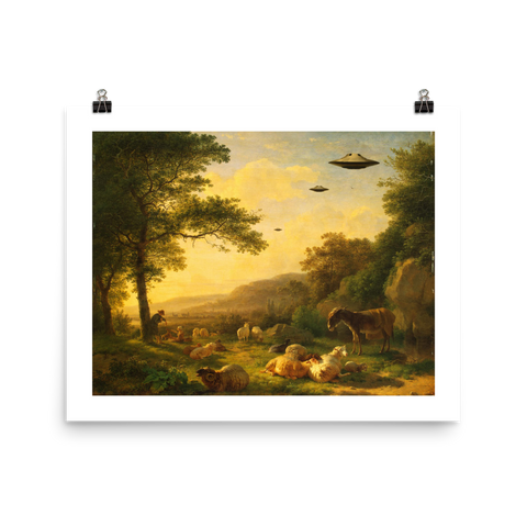 Art Print - Saucers Over The Heartland