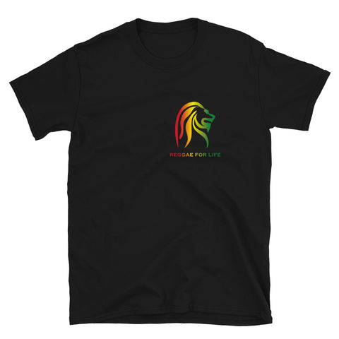 REGGAE FOR LIFE - Men T-Shirt - Small logo