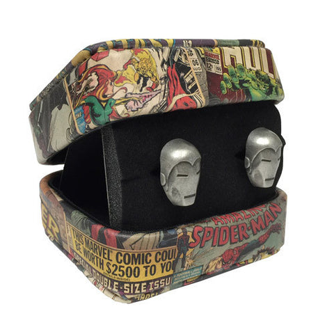 Iron Man - 3-D Iron Man Mask Marvel Cufflinks