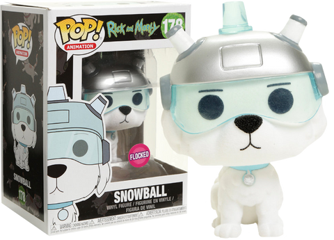 Rick and Morty - Snowball Flocked Pop! Vinyl Figure - Pre-Order