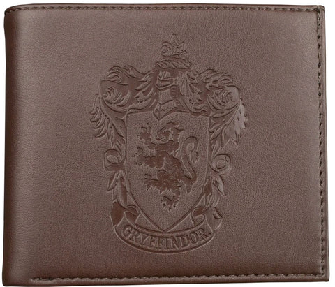 Harry Potter - Gryffindor Logo Embossed Brown Wallet