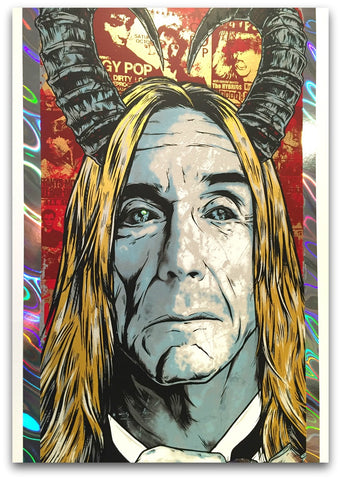 Iggy Pop - Holographic Post Pop Depression Tour Limited Edition Print