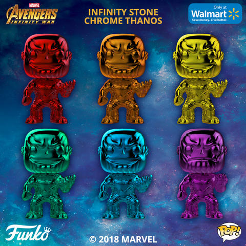 Avengers: Infinity War - Thanos Chrome Pop! Vinyl Figure Bundle Set of 6 - Pre-Order