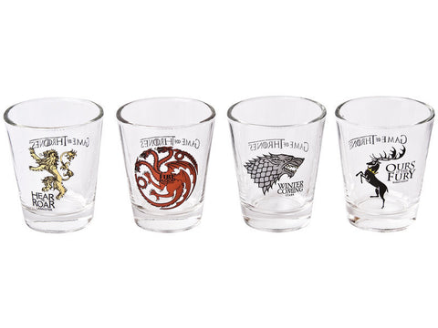Game of Thrones - House Sigils Shot Glass 4 Pack