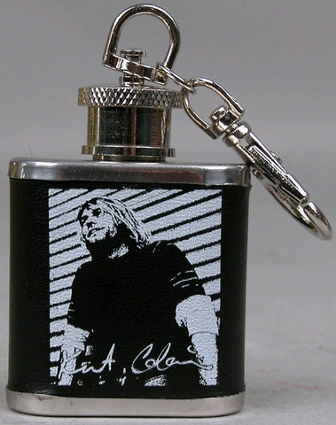 Nirvana - Kurt Cobain Mini-Flask Keychain