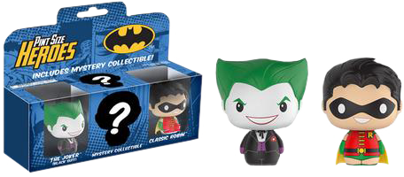 Batman - The Joker, Robin and Mystery Pint Size Heroes 3-Pack - Pre-Order