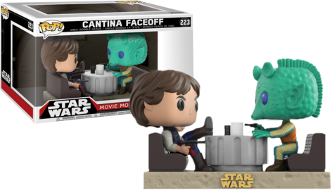 Star Wars - Han Solo and Greedo Cantina Face-Off Movie Moments Pop! Vinyl Figure 2-Pack - Pre-Order