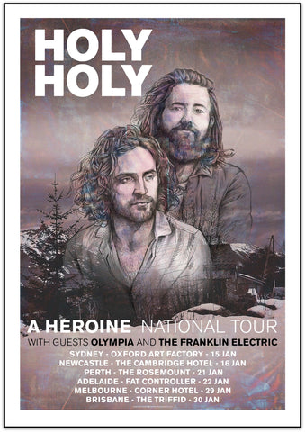 Holy Holy - Australian Tour Limited Edition Print