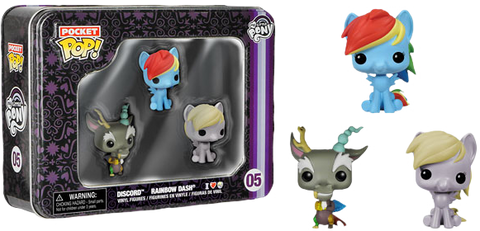 My Little Pony - Dash, Discord & Derpy Pocket Pop! 3-Pack Tin