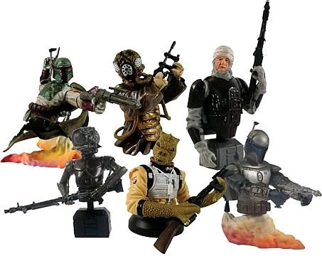 Star Wars - Bust-Ups Bounty Hunters Blind Box Figures