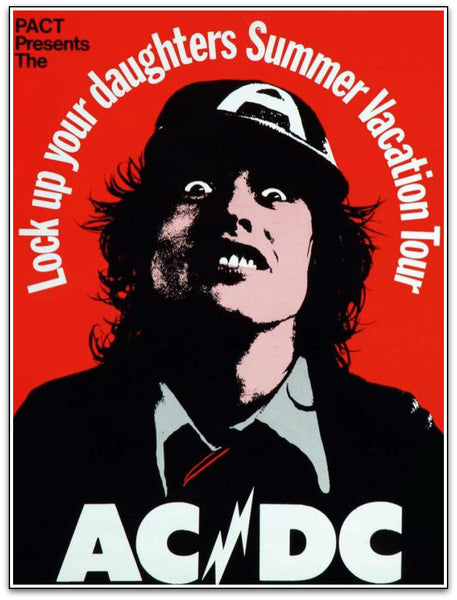 AC/DC Australian Tour 1975 Reproduction Print