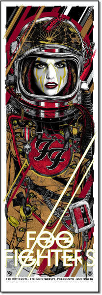 Foo Fighters - Melbourne 2015 Limited Edition Print