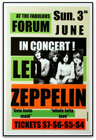 Led Zeppelin - Reproduction 1973 Print