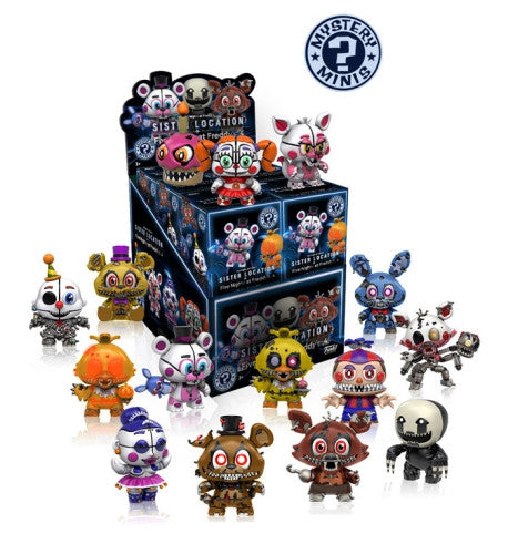 Five Nights at Freddy's: Sister Location - Gamestop Exclusive Mystery Mini Blind Box Case of 12 Figures