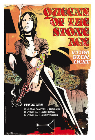 Queens Of The Stone Age - NZ Tour 2011 Limited Edition Print