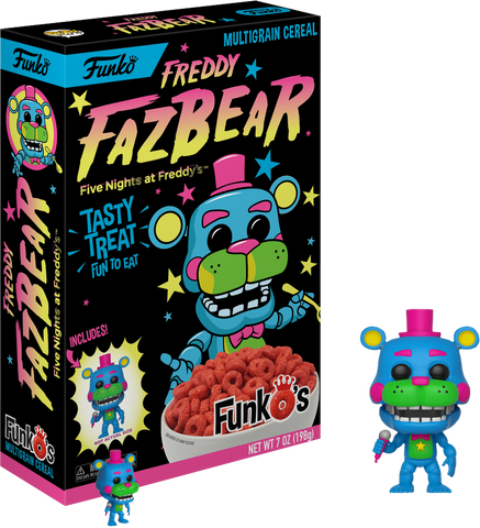 Five Nights at Freddy's - FunkO's Cereal with Freddy Black Light Pocket Pop! Vinyl Figure - Pre-Order