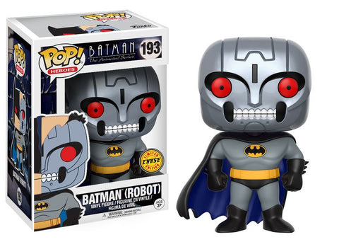 Batman: The Animated Series - Robot Batman Pop! Vinyl Figure: Case with Chase - Pre-Order