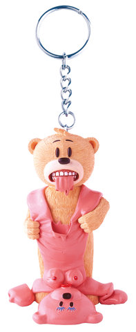 Bad Taste Bears Key Ring - Buster