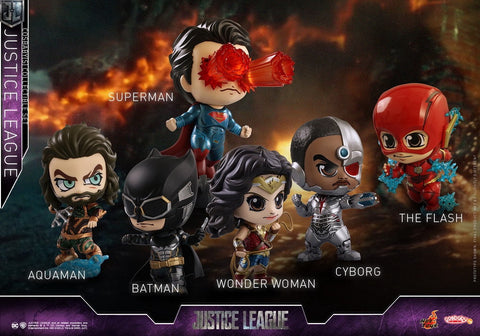Justice League (2017) - Set of 6 Cosbaby Hot Toys Figures - Pre-Order