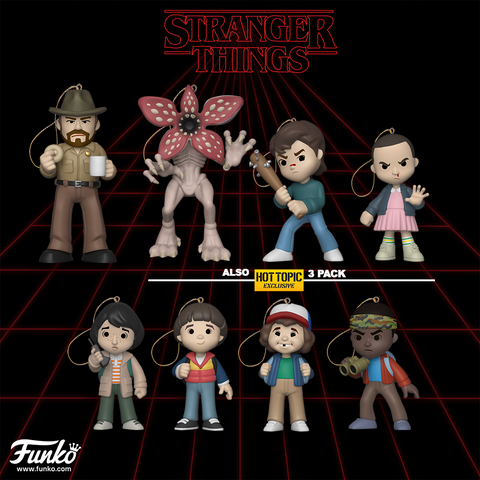 Stranger Things -  Set of 8 Christmas Tree Ornaments - Pre-Order