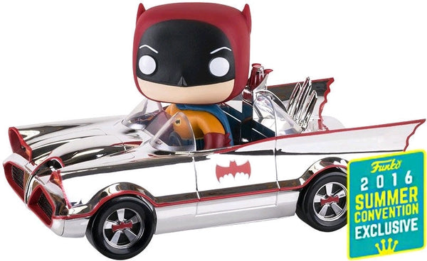 Batman - 1966 Batmobile Chrome SDCC 2016 Exclusive Pop! Vinyl Figure Ride