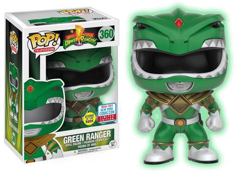 NYCC 2017 Exclusive - Power Rangers: Glow-in-the-Dark Green Ranger Pop! Vinyl Figure