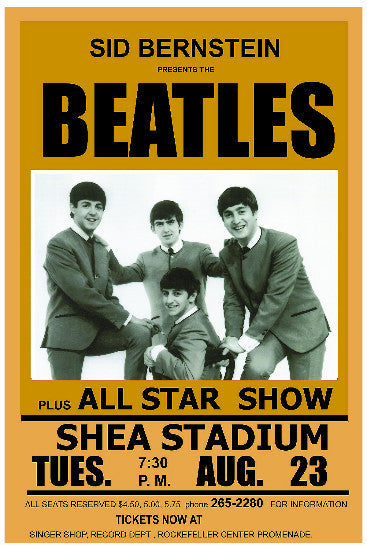 The Beatles - 1965 Tour Reproduction Print