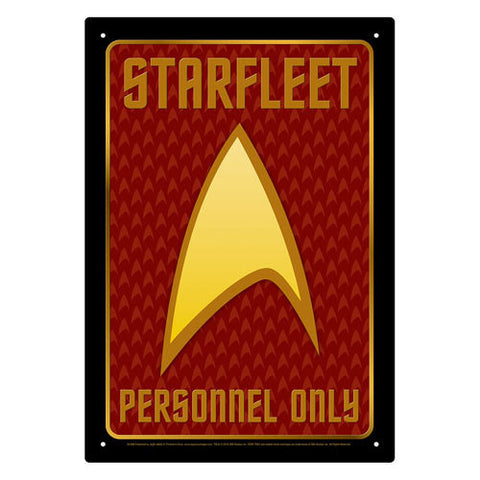 Star Trek - Starfleet Personnel Tin Sign