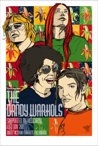 The Dandy Warhols - Melbourne Australia Limited Edition Print