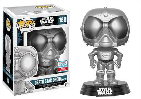 NYCC 2017 Exclusive - Star Wars Rogue One: Chrome Death Star Droid Pop! Vinyl Figure - Pre-Order